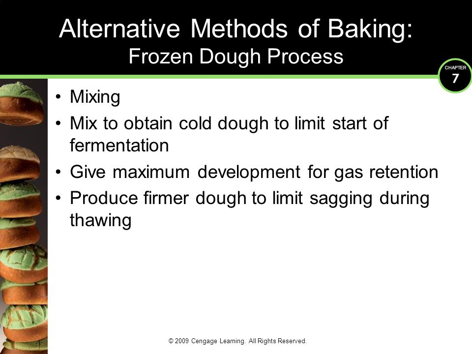 Alternative Methods of Baking: Frozen Dough Process
