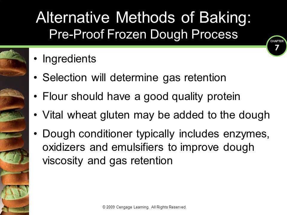 Alternative Methods of Baking: Pre-Proof Frozen Dough Process
