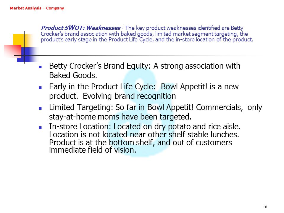 Betty Crocker's Brand Equity: A strong association with Baked Goods.