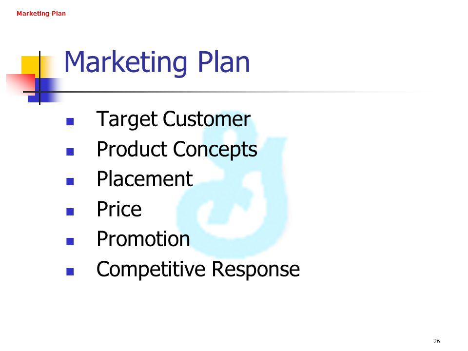 Marketing Plan Target Customer Product Concepts Placement Price