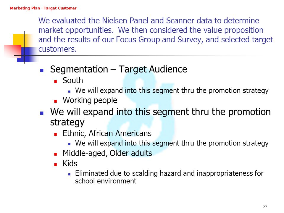 Segmentation – Target Audience