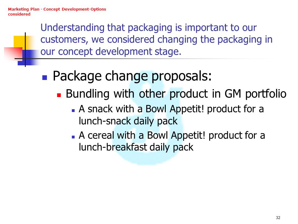 Package change proposals: