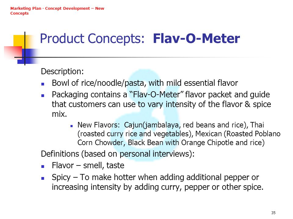 Product Concepts: Flav-O-Meter