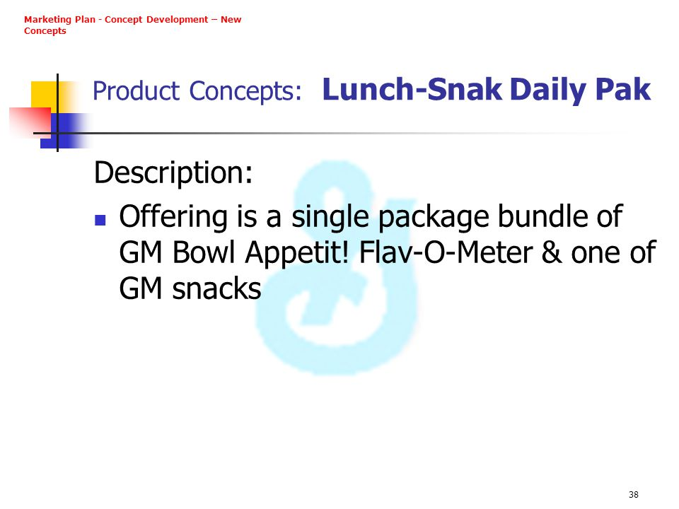 Product Concepts: Lunch-Snak Daily Pak