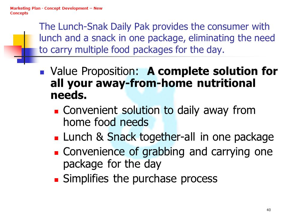Convenient solution to daily away from home food needs