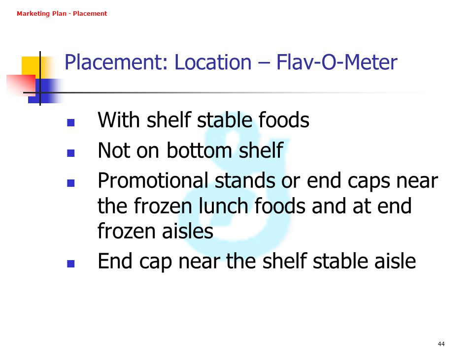 Placement: Location – Flav-O-Meter