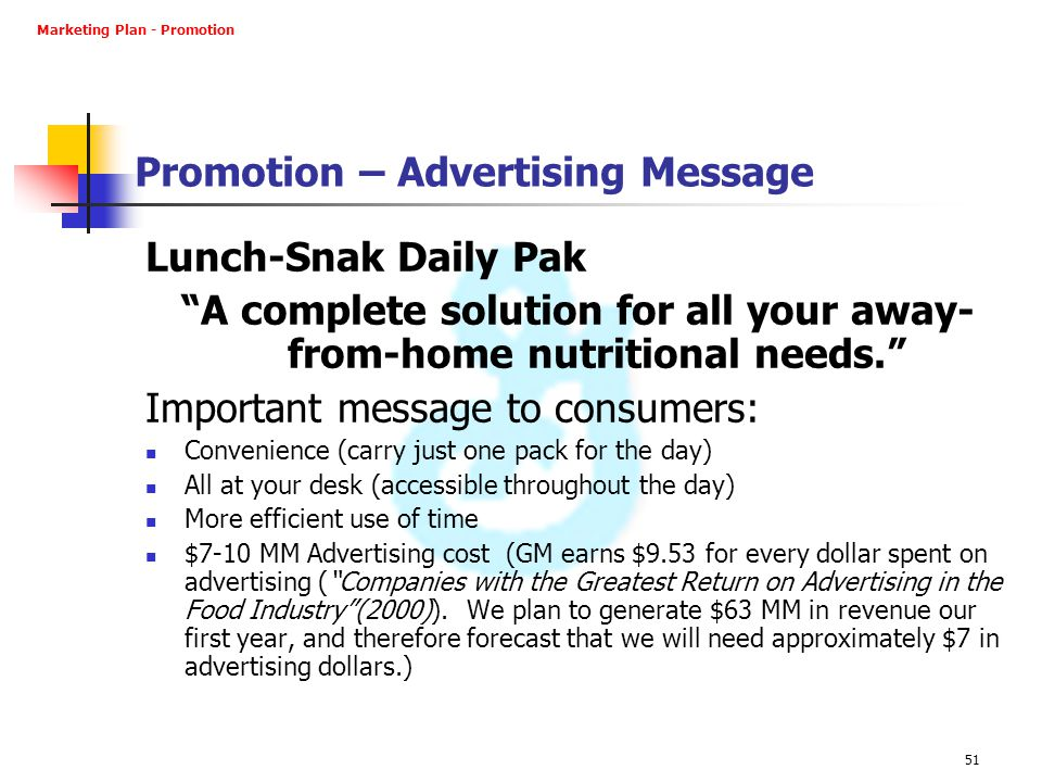 Promotion – Advertising Message