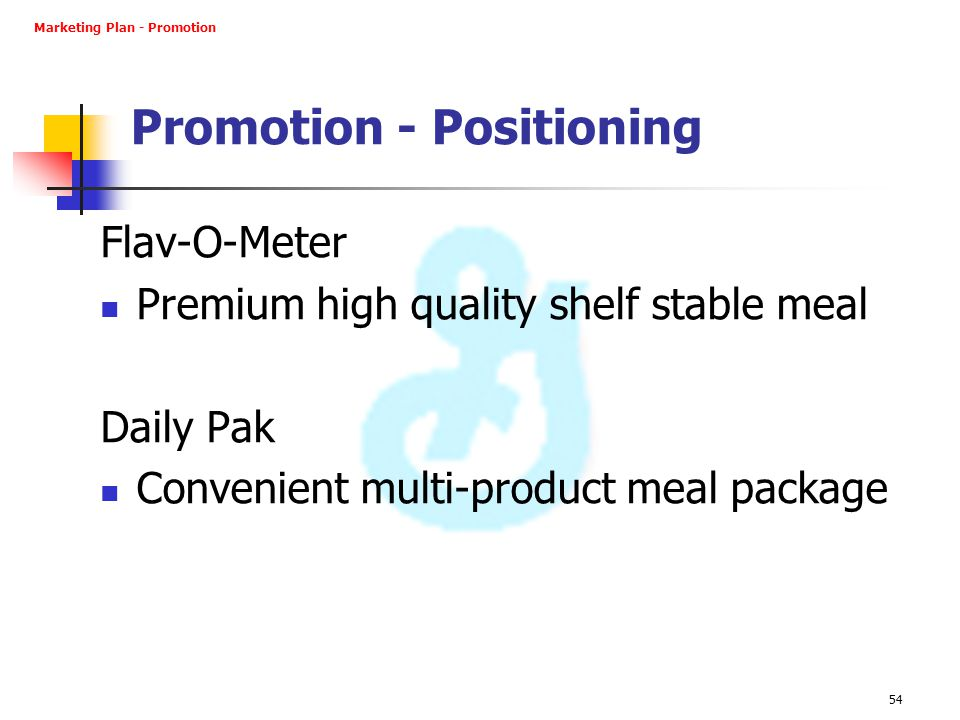 Promotion - Positioning