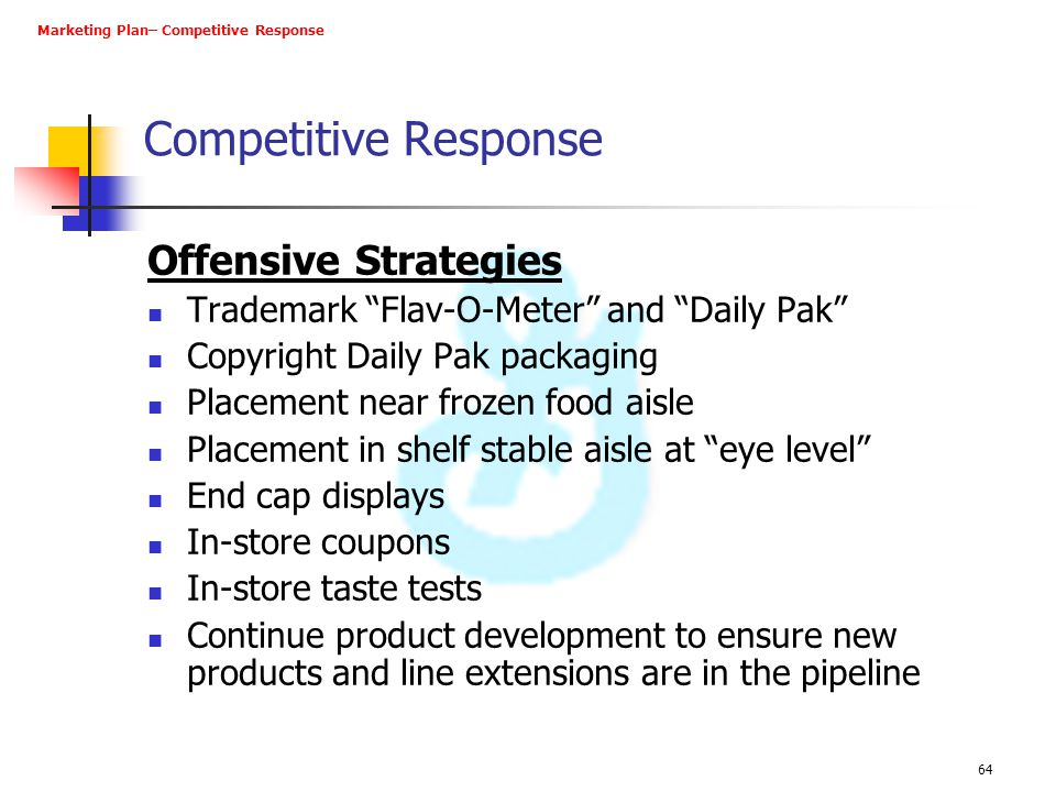 Competitive Response Offensive Strategies