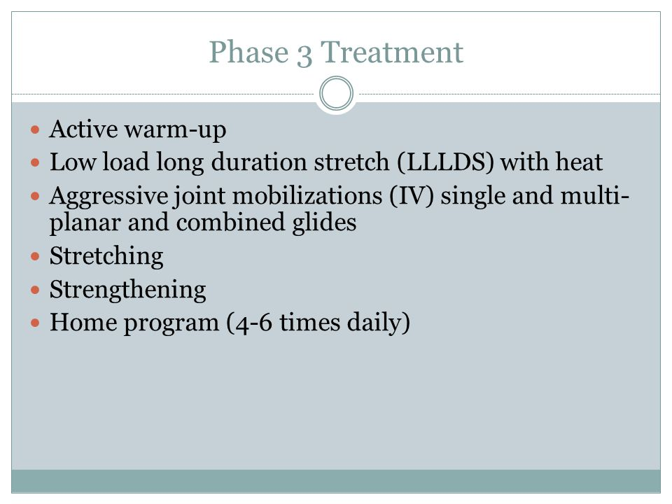Phase 3 Treatment Active warm-up