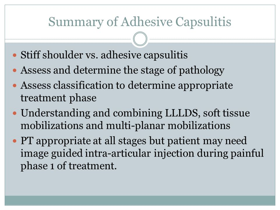Summary of Adhesive Capsulitis