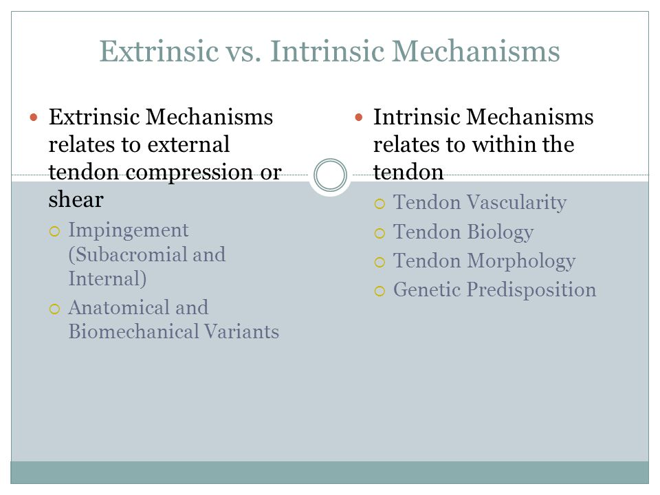 Extrinsic vs. Intrinsic Mechanisms