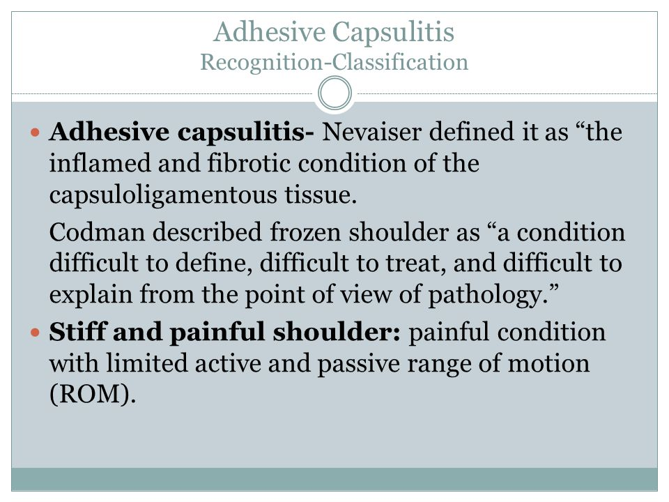 Adhesive Capsulitis Recognition-Classification