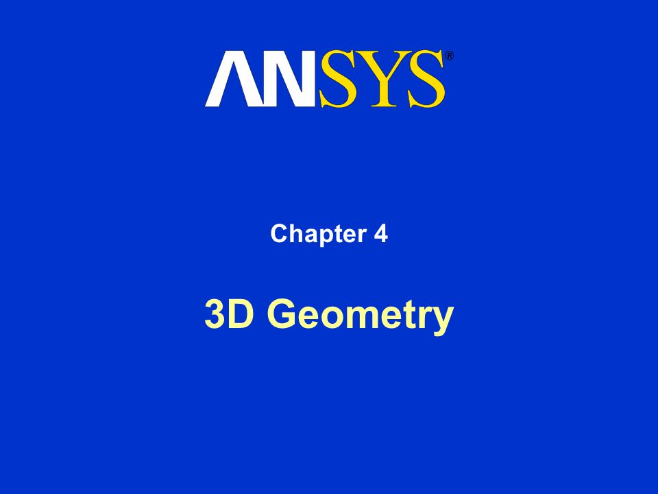 Chapter 4 3D Geometry