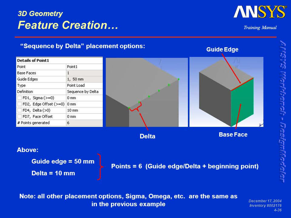 3D Geometry Feature Creation…
