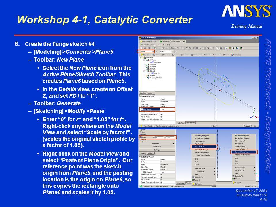 Workshop 4-1, Catalytic Converter