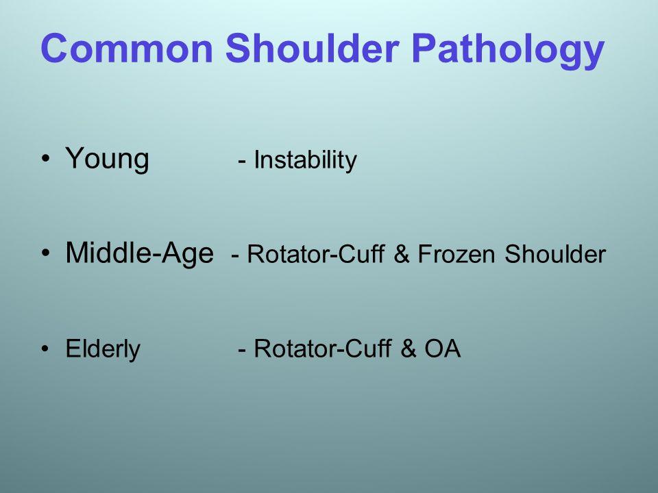 Common Shoulder Pathology