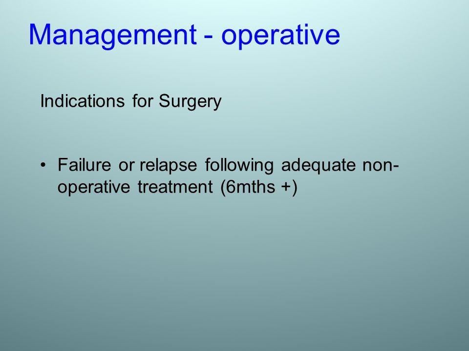 Management - operative