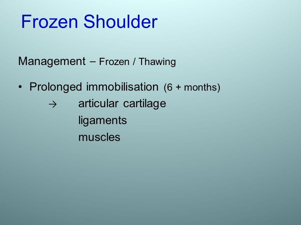 Frozen Shoulder Management – Frozen / Thawing