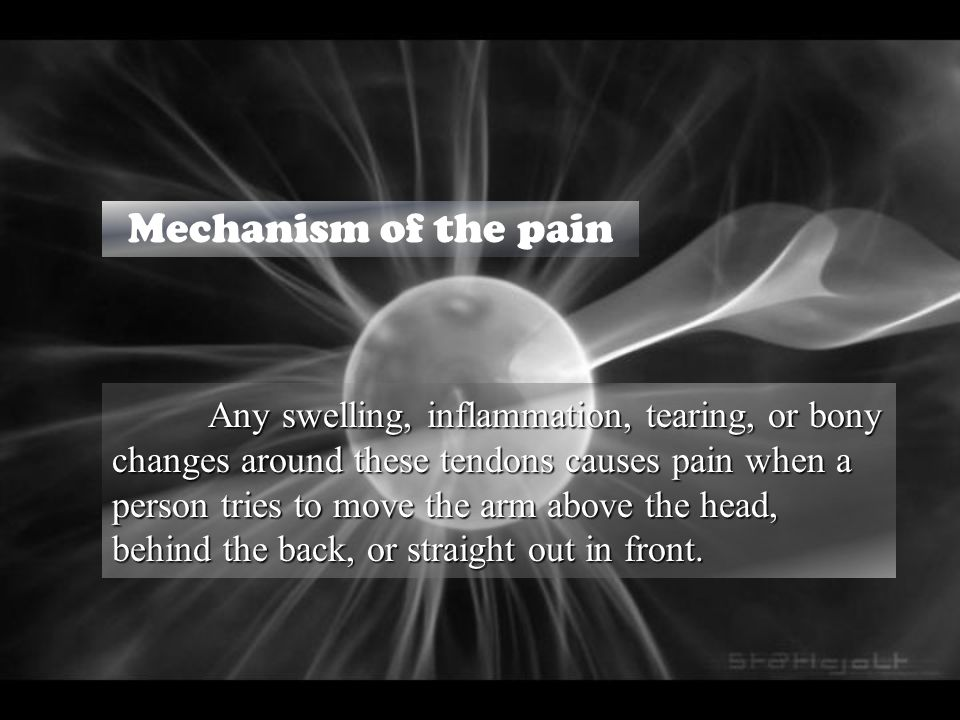 Mechanism of the pain