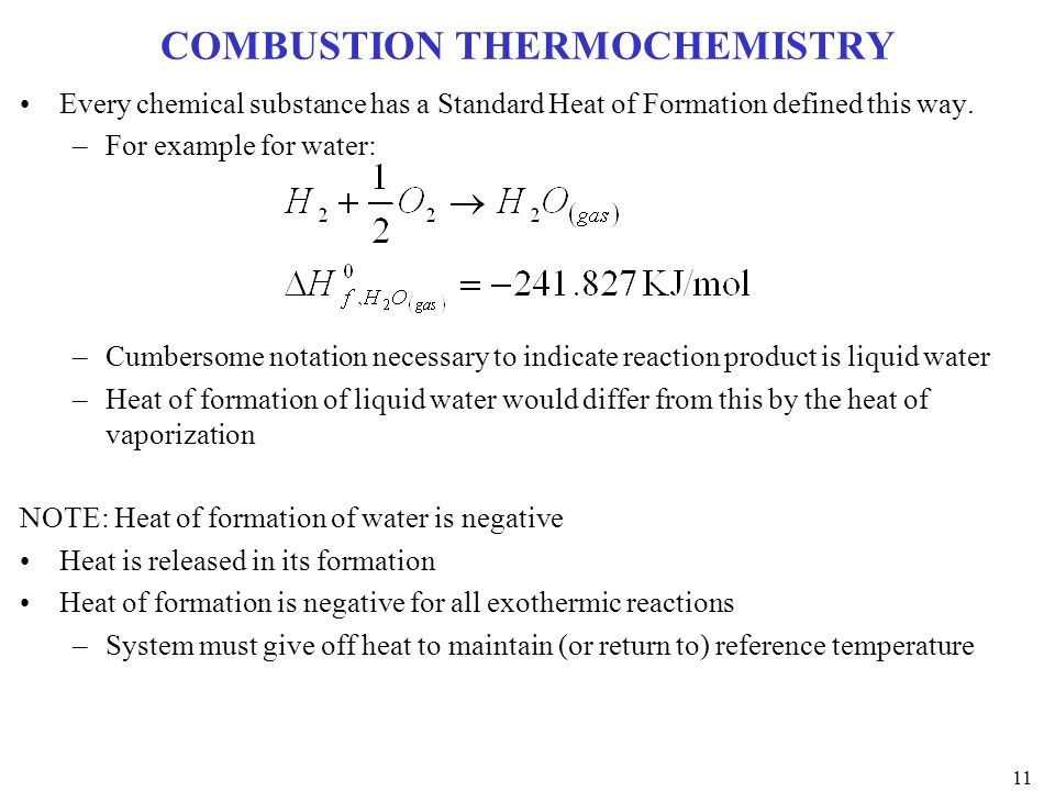 COMBUSTION THERMOCHEMISTRY