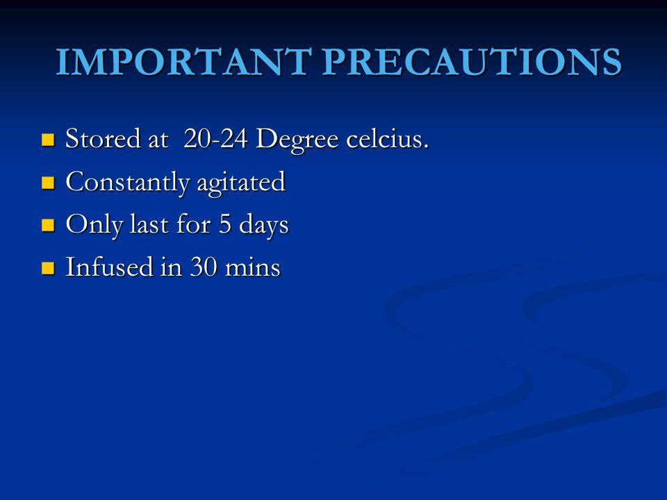 IMPORTANT PRECAUTIONS