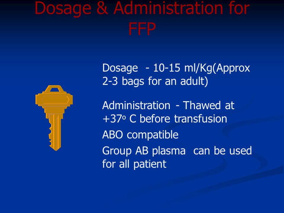 Dosage & Administration for FFP