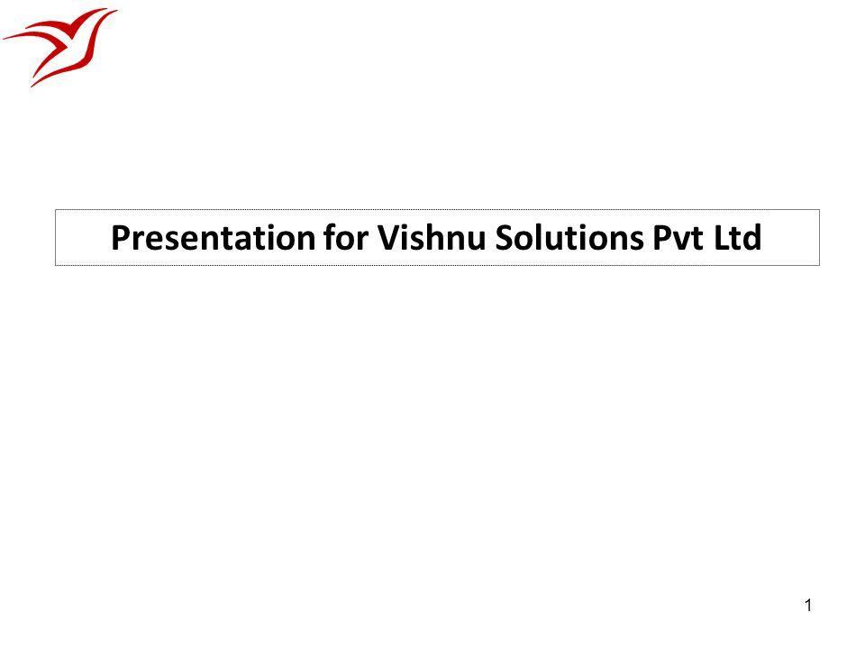 Presentation for Vishnu Solutions Pvt Ltd