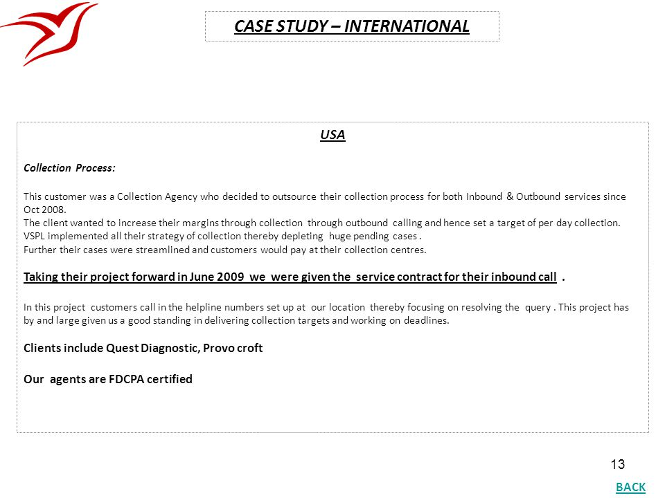 CASE STUDY – INTERNATIONAL