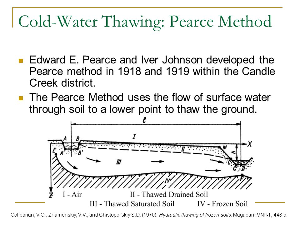 Cold-Water Thawing: Pearce Method