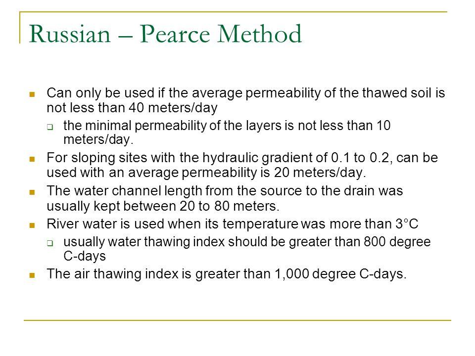Russian – Pearce Method
