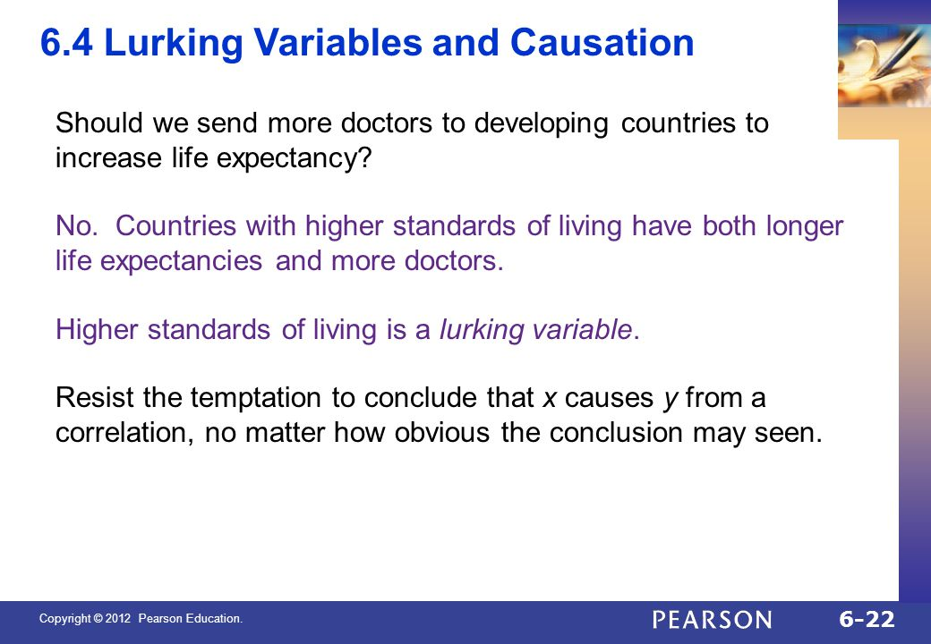 6.4 Lurking Variables and Causation