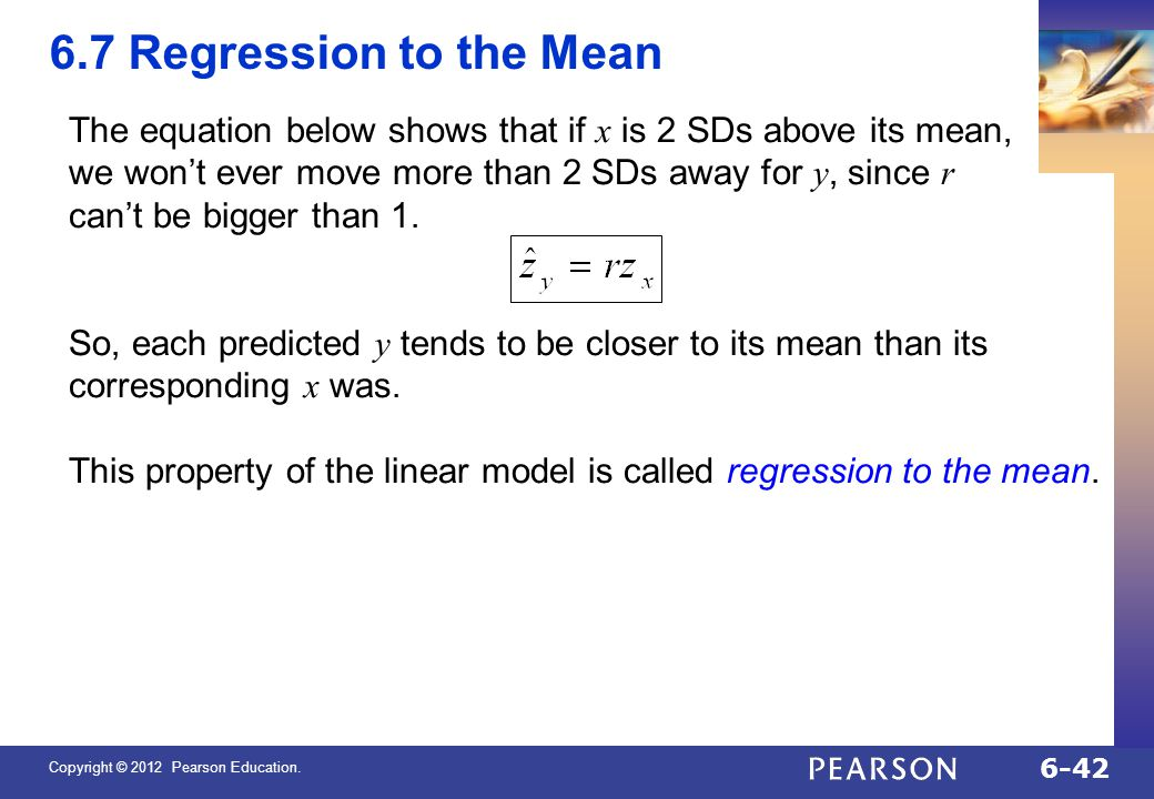QTM1310/ Sharpe 6.7 Regression to the Mean.