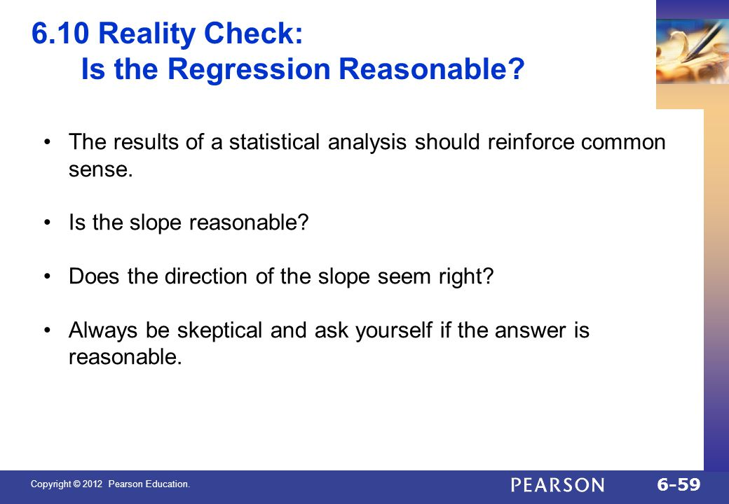 Is the Regression Reasonable