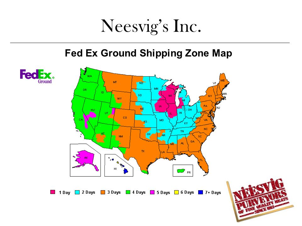 Fed Ex Ground Shipping Zone Map