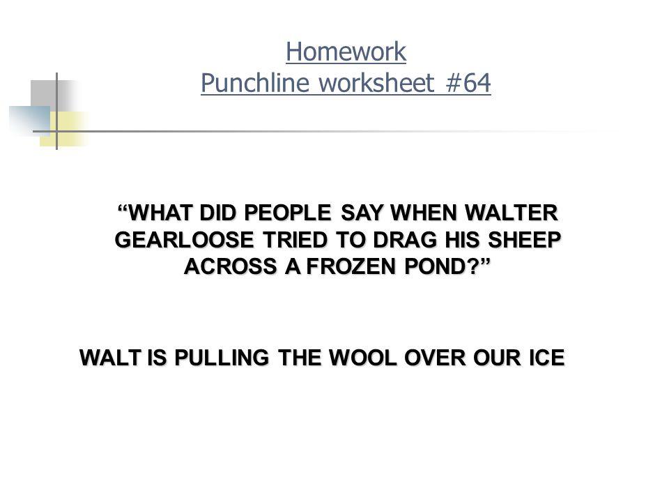 Homework Punchline worksheet #64