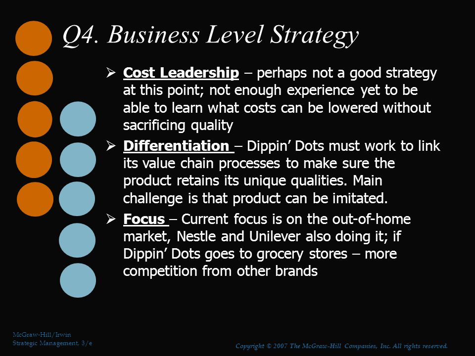 Q4. Business Level Strategy