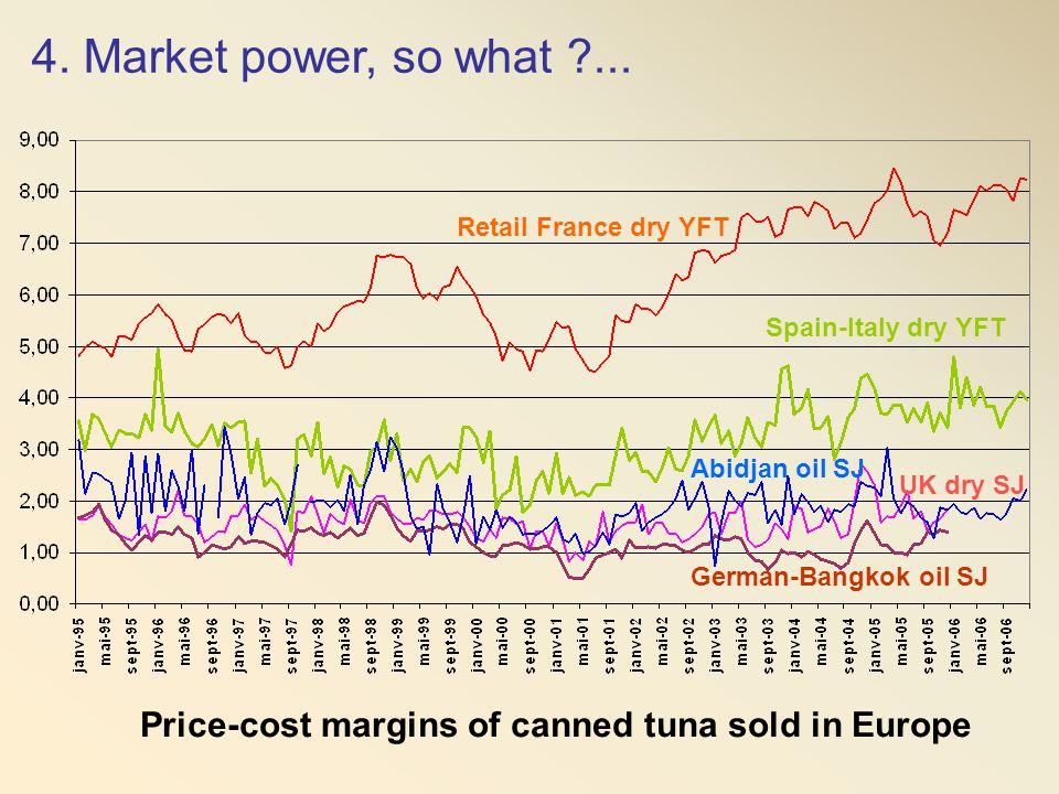4. Market power, so what ... Retail France dry YFT. Spain-Italy dry YFT. Abidjan oil SJ. UK dry SJ.