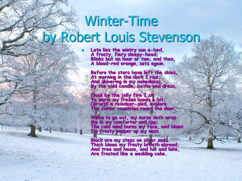 Winter-Time by Robert Louis Stevenson