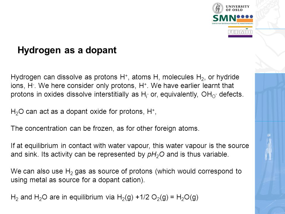 Hydrogen as a dopant
