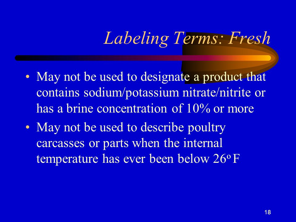 Labeling Terms: Fresh