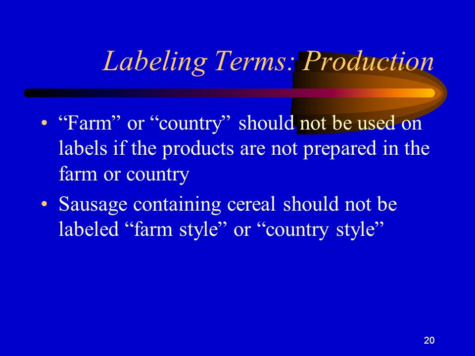 Labeling Terms: Production