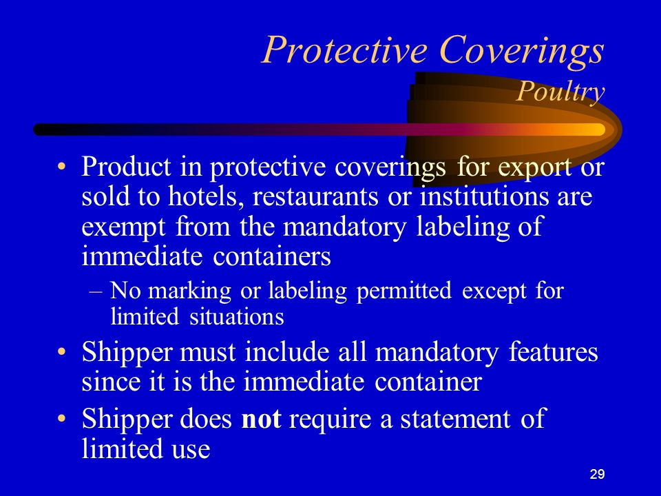 Protective Coverings Poultry