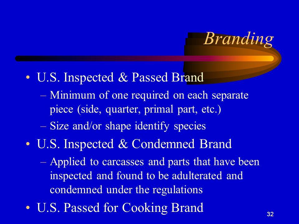 Branding U.S. Inspected & Passed Brand