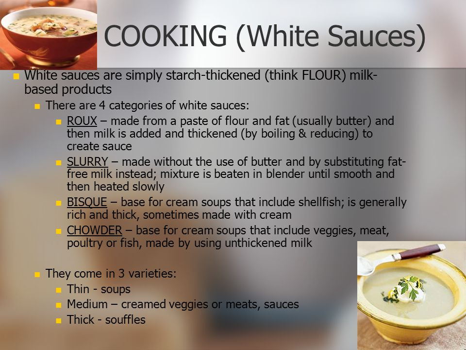 COOKING (White Sauces)
