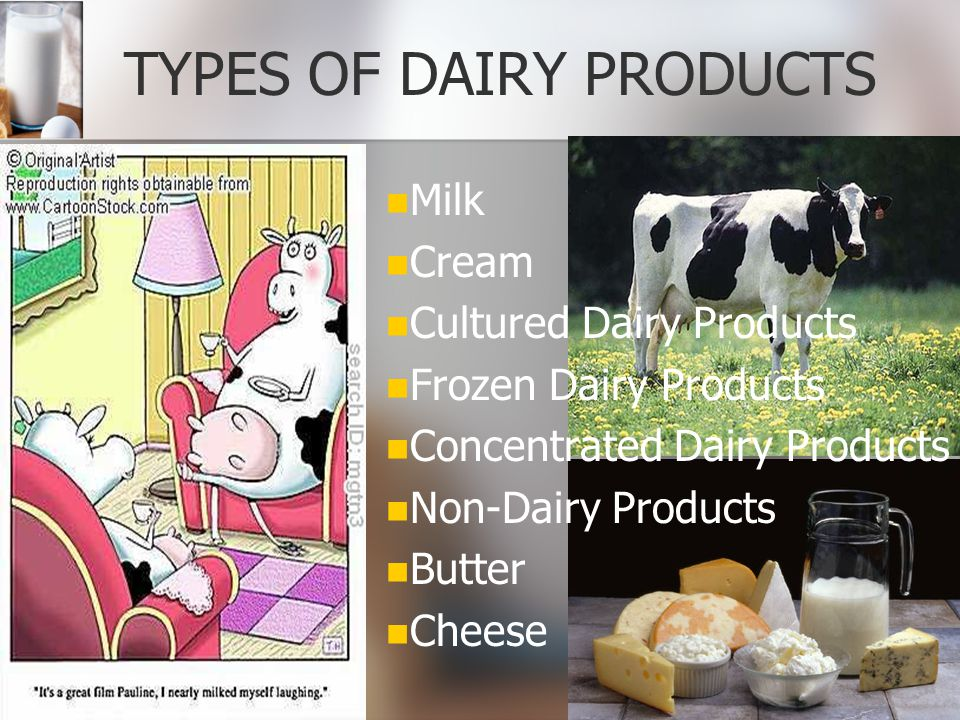 TYPES OF DAIRY PRODUCTS