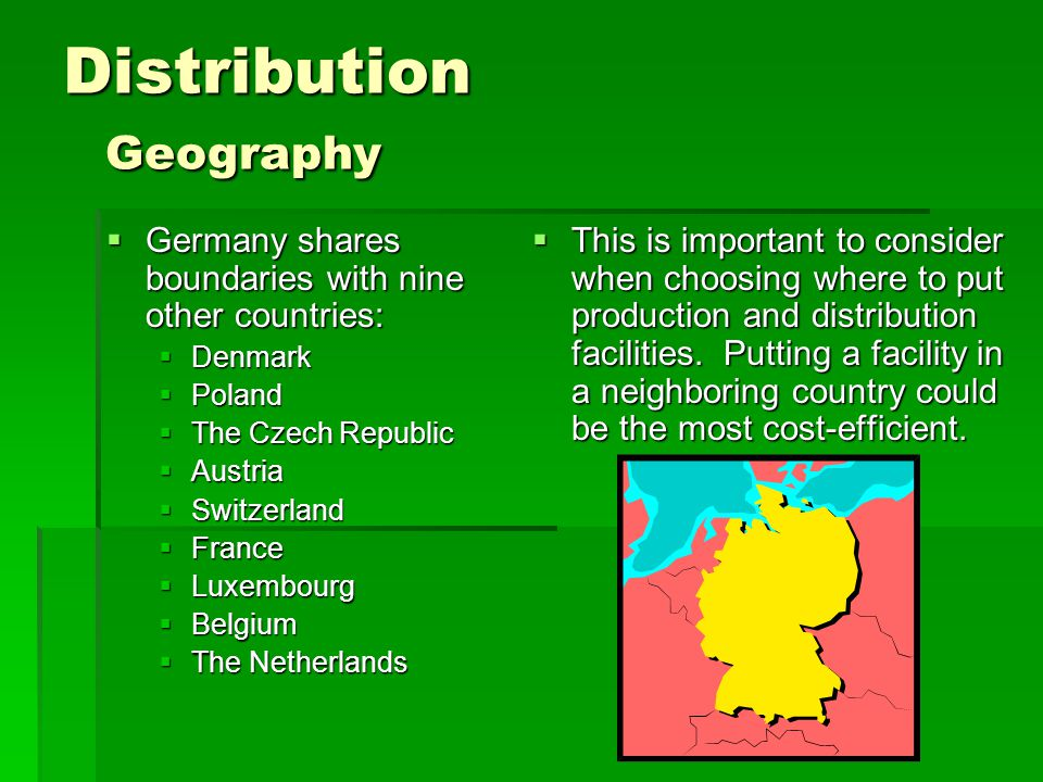 Distribution Geography