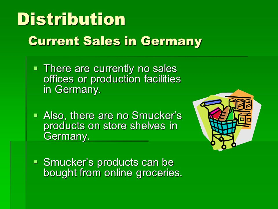 Distribution Current Sales in Germany