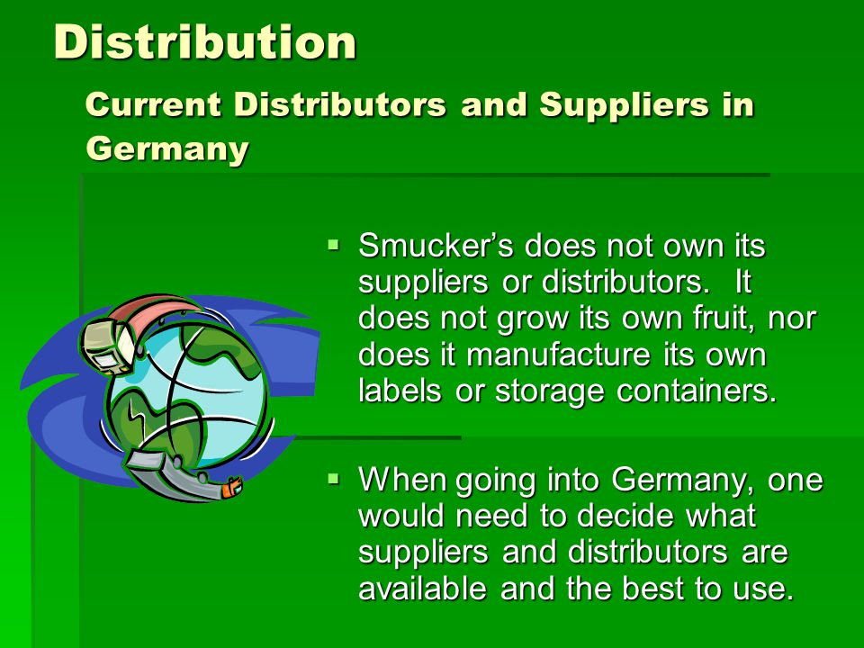 Distribution Current Distributors and Suppliers in Germany