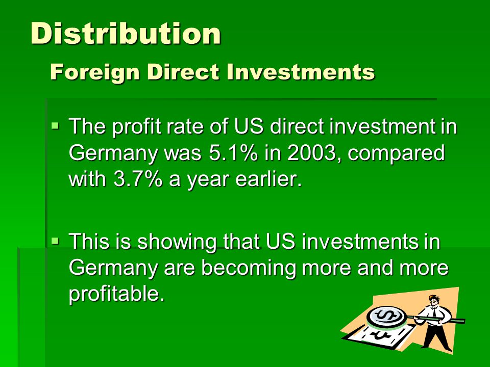 Distribution Foreign Direct Investments